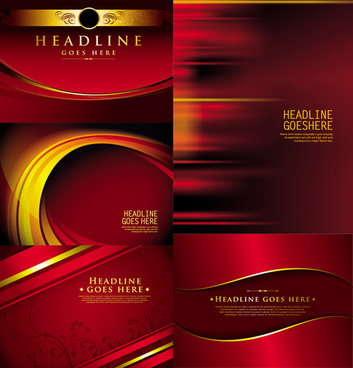 luxurious red background vector