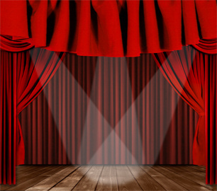 luxurious red curtain vector
