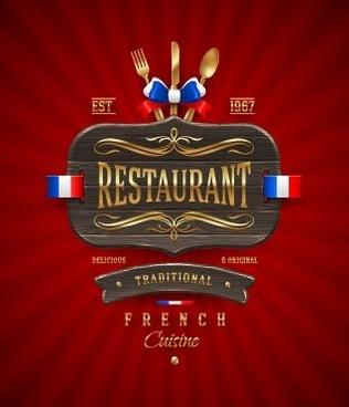 luxurious restaurant cover background