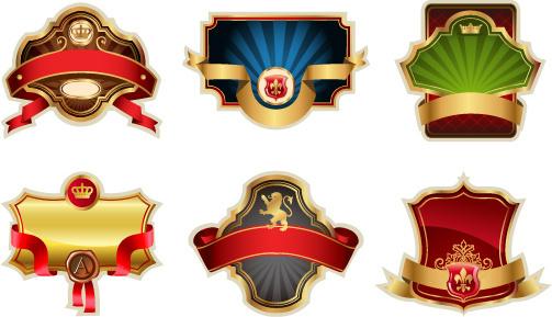 Luxurious Royal Label Golden Vector