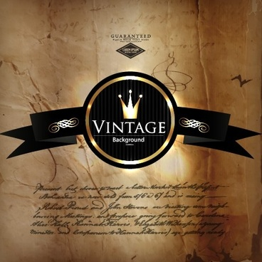 luxurious royal vintage background vector