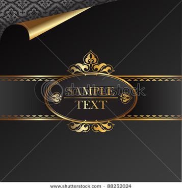 luxurious vintage black background vector set
