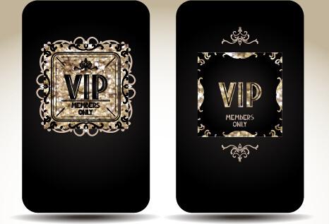 luxurious vip gold card vectors