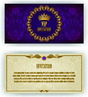 Free invitation card design free vector download 12893 free vector luxurious vip invitation cards vector stopboris Images
