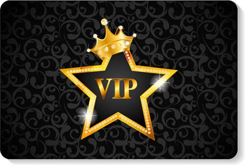 luxurious vip members cards design vectors
