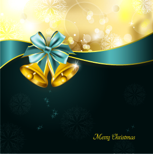luxury14 christmas bells vector background