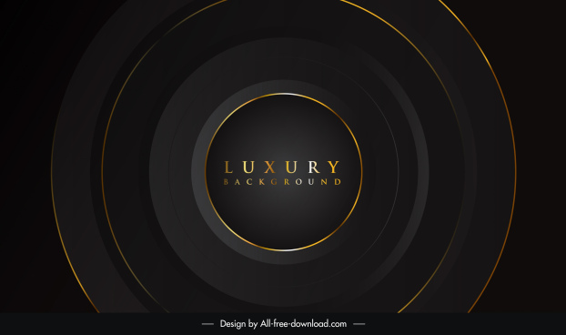 luxury background dark golden circles motion