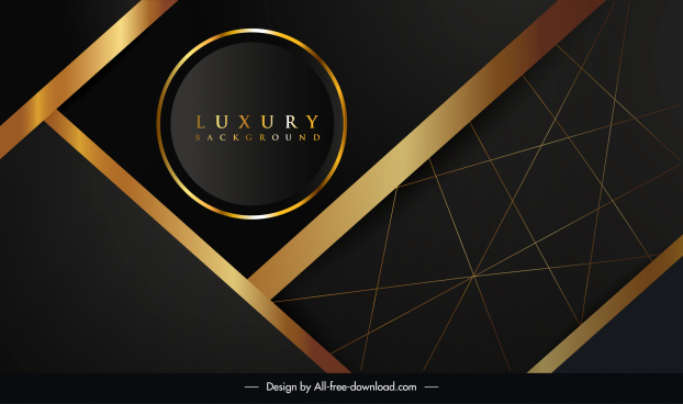 luxury background template black golden geometric decor