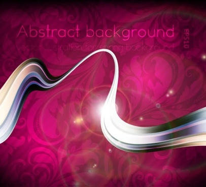 decorative background dynamic curves light effect design