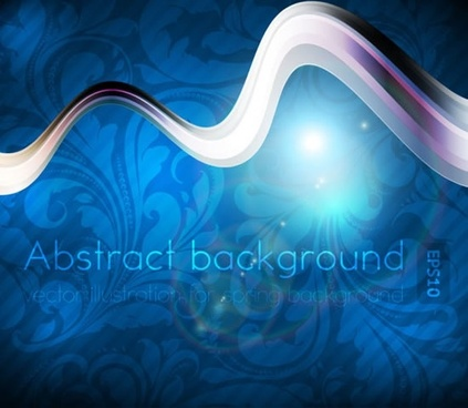 decorative background template shining dynamic curves blurred botany