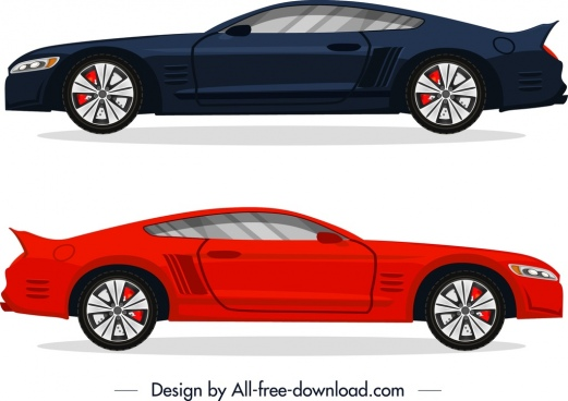 luxury car advertising background blue red decor
