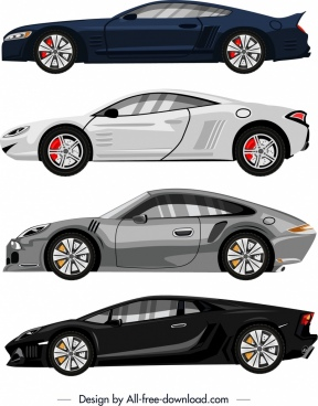 luxury car advertising background modern colored sketch