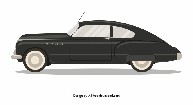 luxury car icon side view sketch