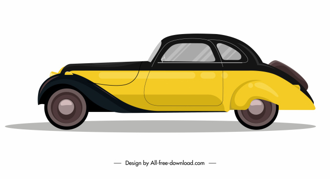 luxury car model icon side view sketch