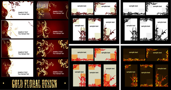 luxury card elements