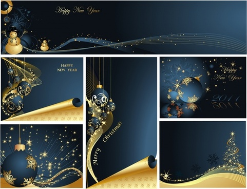 christmas background templates modern sparkling elegant decor