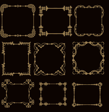 luxury classical frames vector