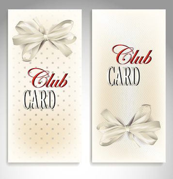 luxury club cards design elements vector