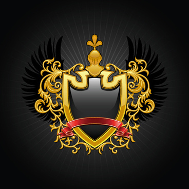 Luxury Coat Of Arms Design Elements Vector Graphics