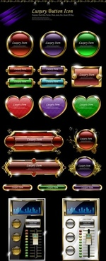 luxury common web buttons 02 vector