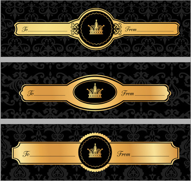 luxury crown banners vector