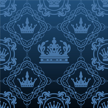 luxury crown vector seamless pattern vector