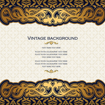 luxury design vintage backgrounds vector