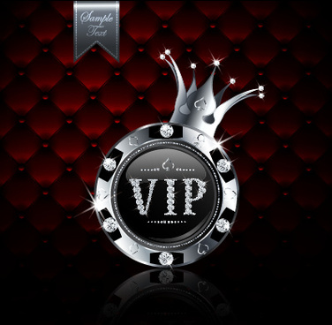 luxury diamond vip royal background vector
