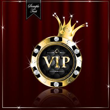 Luxury diamond vip royal background vector Free vector in