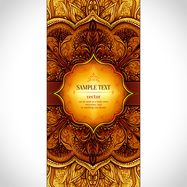 luxury floral book cover design vector