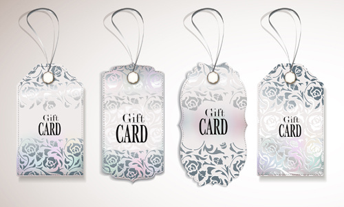 luxury gift cards vector graphics