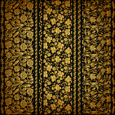 luxury gold borders vector set