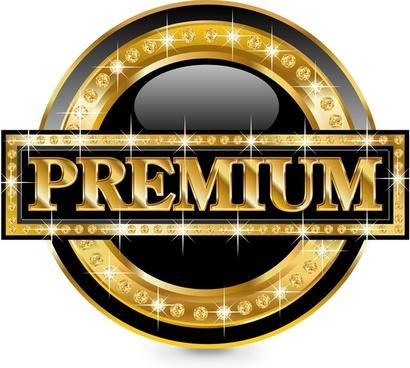 luxury gold label border vector