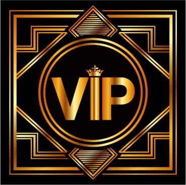 luxury golden vip background vectors