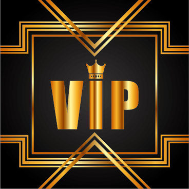 luxury golden vip background vectors