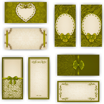 luxury holiday greeting cards vector set
