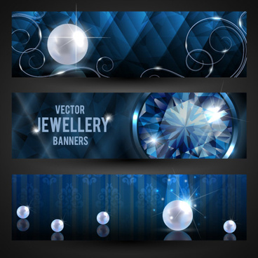 luxury jewelry banner vector