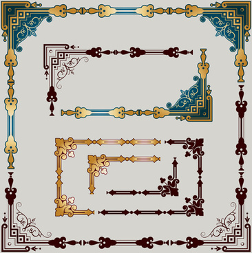 luxury ornament frame with corners vector