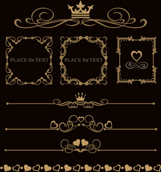 luxury ornaments borders with frame vector