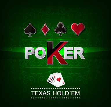 luxury poker poster cover vector