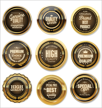 luxury premium quality golden labels