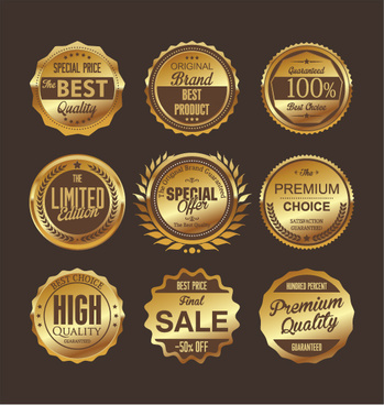 luxury premium quality golden labels