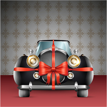 luxury retro car cool vector