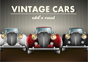 luxury retro car cool vector