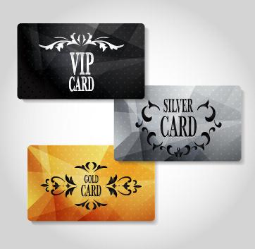 luxury vip cards set vector