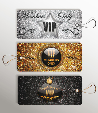 luxury vip gold cards vector