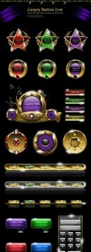 luxury web button shiny vector