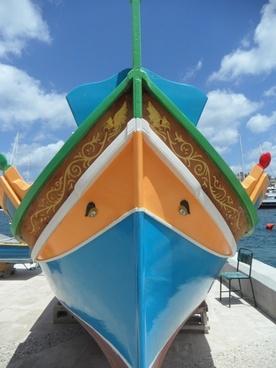 luzzu boot fishing boat