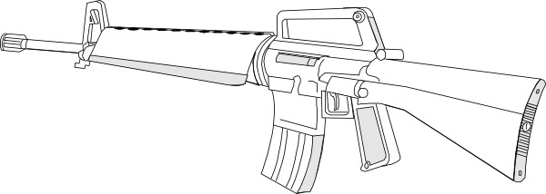 M16 Gun Fire Arms Weapon clip art