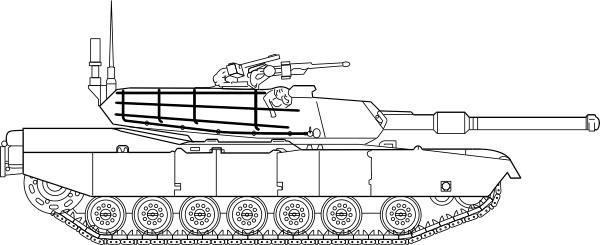 M1 Abrams Main Battle Tank clip art